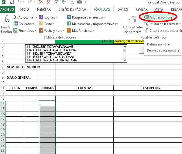Sistema Contable en Excel y Contabilidad(Libro Diario)