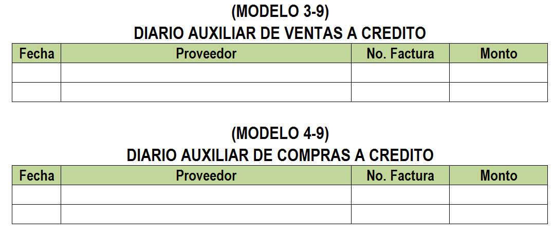 Como utilizar el diario auxiliar en la Contabilidad - EXCELCONTABLEX.COM