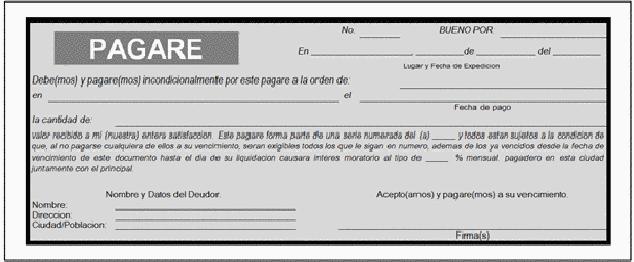modelo de un pagare